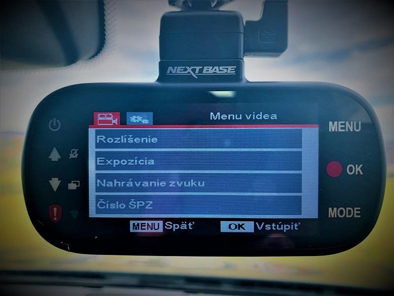 Autokamera so Slovenským menu