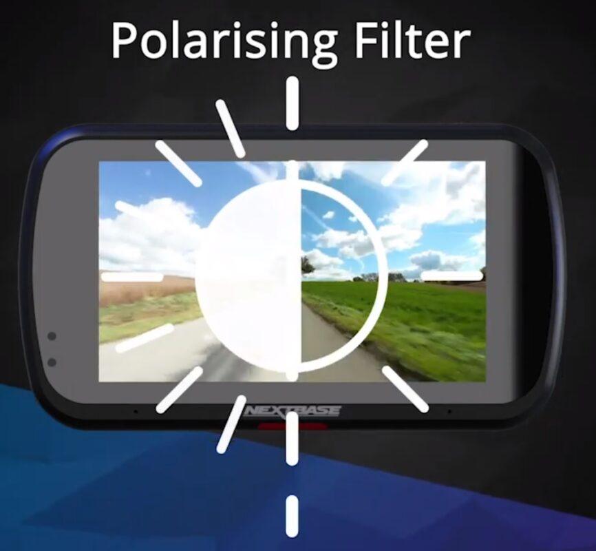 Autokamera s polarizačným filtrom